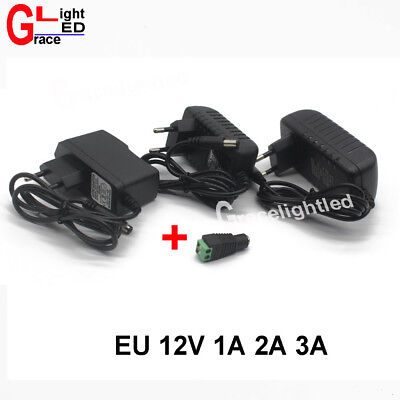 EU/US AC100-240V To DC 12V 1A 2A  3A Power Supply Adapter  for led strip light
