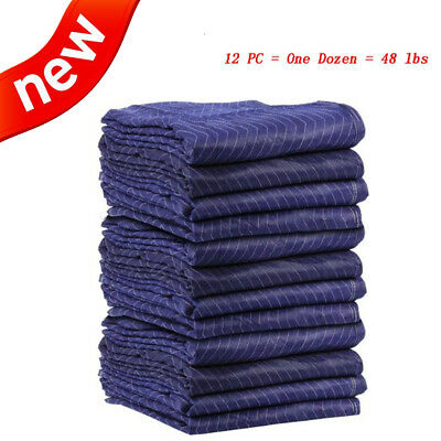 "12PCS 70""x 28"" Moving Blankets Deluxe Protective Shipping 48lbs for One Dozen"