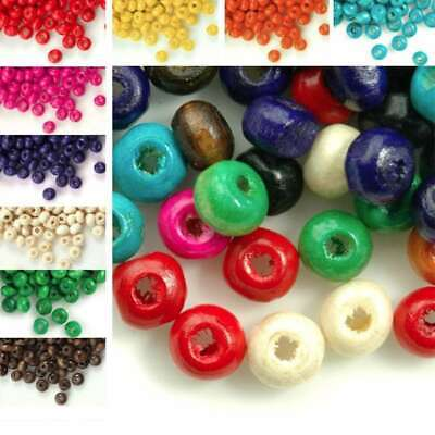 30g(800pcs Approx) Wooden Round Wood Spacer Beads 3x4mm IWWBSET01