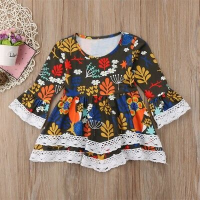 Kids Baby Girl Floral Dress Summer Party Dress One-Piece Sundress Clothes Outfit