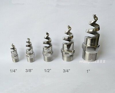 """2pcs 1/2"""" BSPT 316L Stainless Steel Cone Spray Nozzle Brand New"""