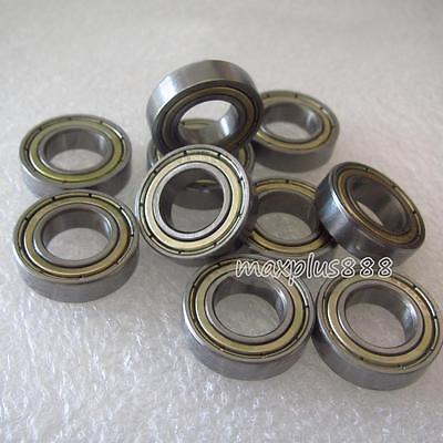New  50pcs  MR126zz Ball Bearing metal sealed 6X12X4mm Miniature Mini Bearing