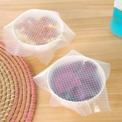 1/4/6Pcs Wraps Silicone Seal Cover Stretch Cling Film Food Fresh Reusable Tools