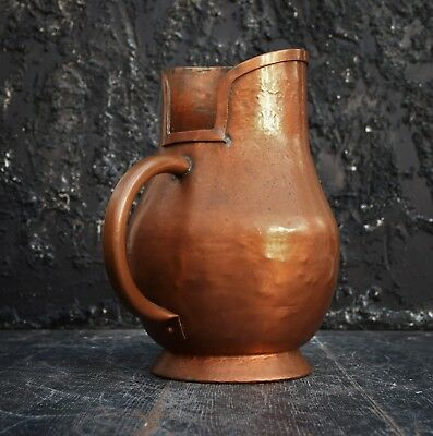 Huge Antique 19th Century Hand beaten French Copper Water Jug