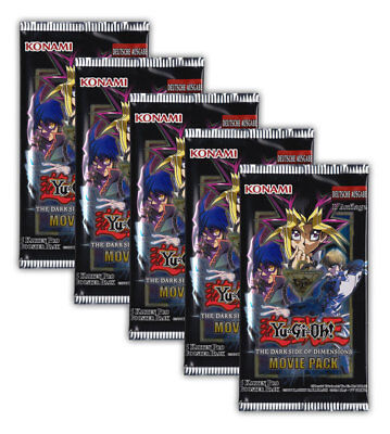 Yu-Gi-Oh! The Darkside of Dimensions Movie Pack - 5 Booster 1. Ausgabe deutsch