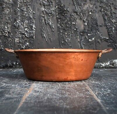 Antique 19th Century Fabrication Franchise French Copper Water Bowl