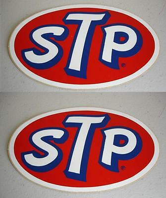 VINTAGE STP STICKER NASCAR RICHARD PETTY RACING TOOLBOX DECAL LOT of TWO