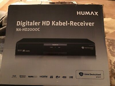 humax na hd2000c tv receiver kabel receiver kabel deutschland karten geeignet eur 20 05. Black Bedroom Furniture Sets. Home Design Ideas
