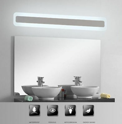 Acrylic Bathroom Mirror Front Light LED Waterproof Antifogging Makeup Wall Light