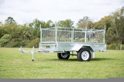 8x5 Box Trailer LHT 100% Galvanised 600mm Cage BUILT TOUGH