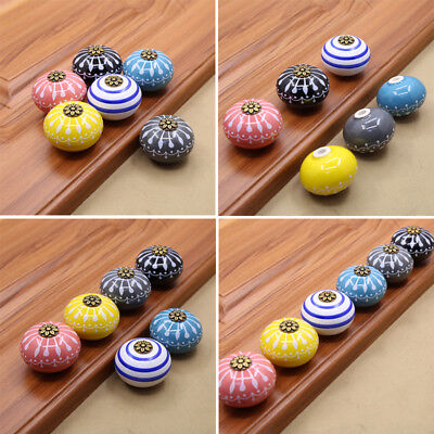 Hand-made Multi Color Ceramic Door Knobs Handpainted Kitchen Cabinet Knobs
