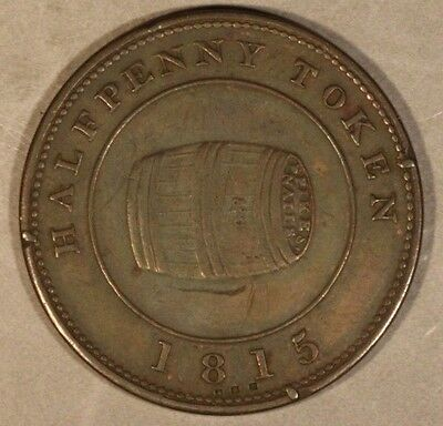 1815 Miles W. White Half Penny Token Halifax, N.S.    ** FREE U.S. SHIPPING **