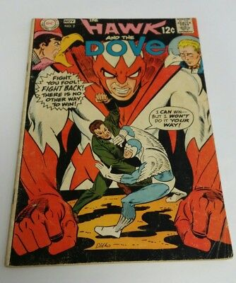 The Hawk and the Dove #2 1968 Low Grade G Condition DC Comics