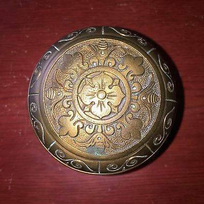 Antique Collectible  Solid Cast Bronze DoorKnob Corbin  #1
