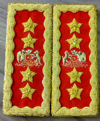 Chile Augusto Pinochet Presidente General Marshal Boards Straps Officer Uniform