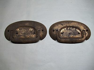 Pair of vintage casket handles for repurpose