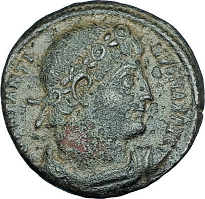 CONSTANTINE I the GREAT 330AD Authentic Ancient Roman Coin w SOLDIERS i65976