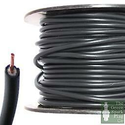 7mm HT Ignition Lead Cable - Wire Core PVC Black - 100 Meter Roll