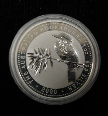1 Oz Silver $1 2000 Australian Kookaburra Coin Immaculate Condition Must See!#8K