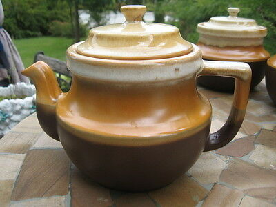 """VTG TEAPOT BEAUCE CANADA POTTERY ceramic 6.5"""" INCHES TALL"""