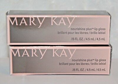 2 Mary Kay Nourishine Plus Lip Gloss SPARKLE BERRY New in Box Set of TWO