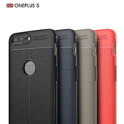 Dooqi Ultra Thin Luxury PU Leather Soft TPU Shockproof Case Cover For OnePlus 5