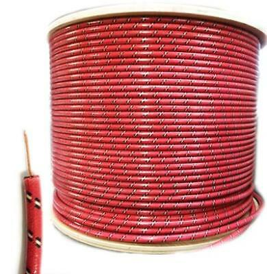 7mm HT Ignition Lead Cable - Gloss RBWF Wire Core Cotton Braided