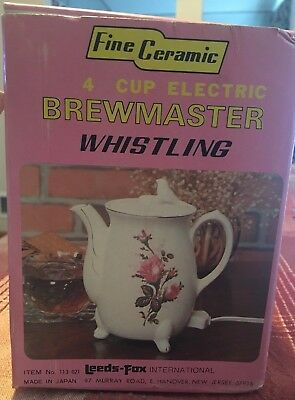 Fine Ceramic 4 Cup ELECTRIC Whistling Brew Master Made in Japan