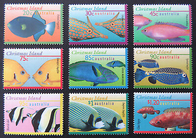 1995-1997 Christmas Island Stamps - Marine Life Definitives I-III-Full Set 9 MNH