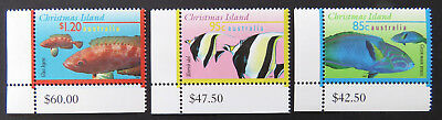 1995-1997 Christmas Island Stamps - Marine Life Definitives III- Set 3-Tabs MNH