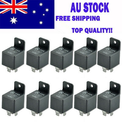 10*  Car Vehicle Auto 12V Volt 40A 40AMP SPDT Relay 5Pin 5P Local Stock