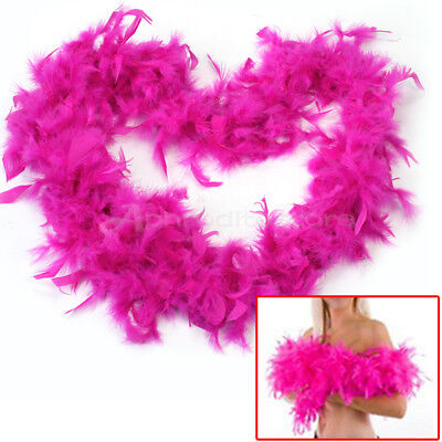 2M Rose Red Feather Boa Fluffy Party Decoration Fancy Costume Dress-Up Prop x 1