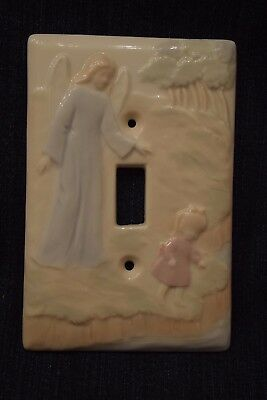 Guardian Angel with Child Ceramic Switch Plate Single Toggle