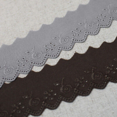 """YH1352 laceking2013 14Yds Broderie Anglaise cotton eyelet lace trim 6.5cm 2.6/"""""""