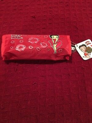Betty Boop Pencil Pouch / Make Up Bag Red
