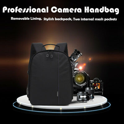 Waterproof Camera Backpack Bag f DSLR and Lens Padded Case for Canon Nikon Sony