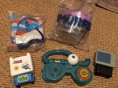 Job Lot Of Mcdonalds Happy Meal Toys Smurfs Nerf Gun Adventure Time Epic Film