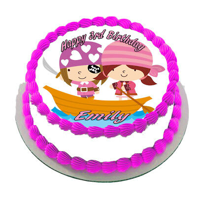 Pirate Ship  Real Edible Icing Cake Topper Party Image Frosting Sheet