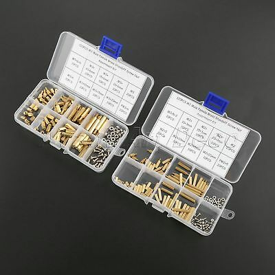 240Pcs Male-female M2 M3 Brass Spacer Standoff Screw Nut Assortment Kit with Box