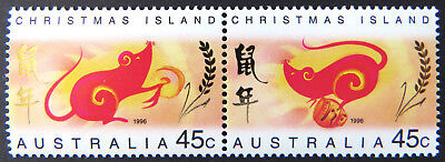 1996 Christmas Island Stamps - Lunar New Year-Year of the Rat - Set of 2 MNH