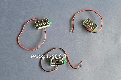 "1pc DC2.5-30V 0.36"" Red Two-Wire LED Digital Voltmeter"