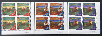 1996 Christmas Island Stamps - Christmas - Cnr Set of 3x4-Tabs MNH