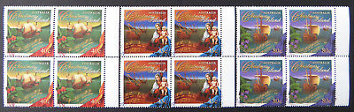 1996 Christmas Island Stamps - Christmas - Set of 3x4-Tabs MNH