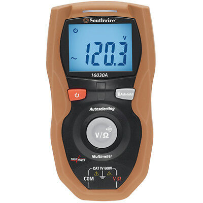 Southwire Digital 600-V Multimeter 16030A Electrical Testers Tools Test Meters