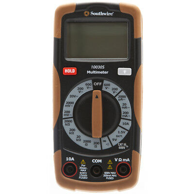Southwire Digital 600-V Multimeter SW912 Electrical Testers Tools Test Meters