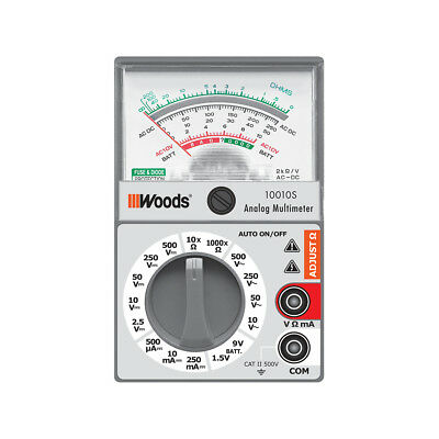 Southwire Analog 500-V Multimeter Meter AMMW1 Electrical Testers Tools Test
