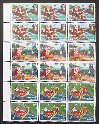 1997 Christmas Island Stamps - Christmas - Set of 3x6- Tabs MNH