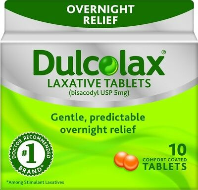 Dulcolax Laxative Comfort Coated Tabs, Relief of Occasional Constipation, 10 ct