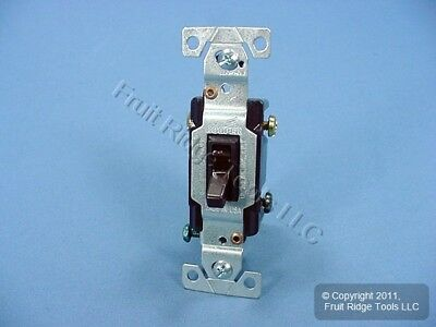 Vintage Cooper Brown Quiet Toggle Wall Light Switch 3-WAY 15A 120V Bulk 1303-7B