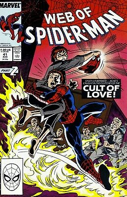 Web of Spider-Man #41 Cult of Love (Marvel Comics, August 1988) VF-